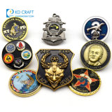 No Minimum Metal 3D Enamel Sports Pirate Firefighter Security Commemorative Souvenir Bulk Cheap Navy Chief Army Military Personalized Logo Custom Challenge Coin