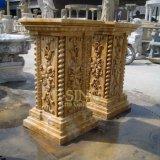 Custom Natural Stone Roman Hand Carving Marble Pillar
