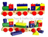 Wooden Stacking Train with Colorful Blocks (80099)