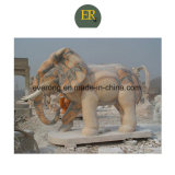 Cheap Natural Stone Animal Sculpture Elephant Statue in Wholesale