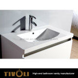 Wholesale White Small Bathroom Vanity with Solid Surface Top Tivo-0001vh