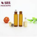 SRS Wholesale Amber Color 3ml 5ml Mini Essential Oil Glass Roller Bottle with Roll on