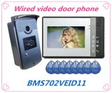 "Popular 7"" Video Door Phone Doorbell with ID Card Function"