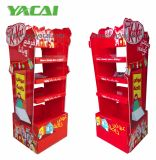 2-Sided Creative Kitkat Chocolate Cardboard Floor Display with 3 Layers, Waterproof Foldable Paper Display Stand