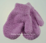 Kids Plain Winter Gloves Knitted Mittens (HY17111027)