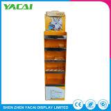 Customized Light Weight Indoor Cosmetic Paper Floor Stand Display Rack