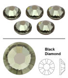 Ss6, Ss10, Ss16, Ss20 Ab Crystal Clear Round Iron on Flatback Wholesales Hotfix Rhinestone