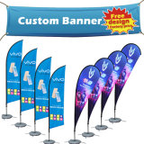 Wholesale China Custom Fabric Sublimation Roll up Flag Banner Silk Screen Printing Vinyl PVC Flex Birthday Advertising Flying Banner for Promotion