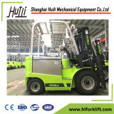 Full Free 3-Stage Mast Construction Machine Electric Forklift