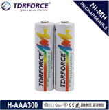 1.2V (HR03-AAA 300mAh) Rechargeable Low Self Discharge Nickel Metal Hydride China Fatory Battery