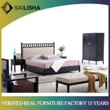 High Back Design Wholesale Fabric Bed Soft Adult Bedroom Furniture Set Solid Wood Double Bed for Sale
