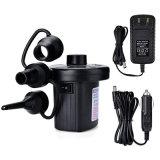 Portable Electric Air Pump, Quick-Fill Air Pump with 3 Nozzles, 110V AC/12V DC, Perfect Inflator/ Deflator Esg13231