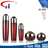 Red Color Wholesale Glass Cosmetics Lotion Bottle (CHR8106)