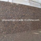 Cheap Natural Tan Brown Granite Stone Tile Slab for Paving