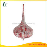 Red Color Christmas Glass Ornament