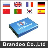 OEM/ODM 2CH SD DVR Support 128GB SD Card, Motion Detection