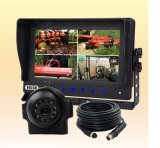 Wired Backup Camera System with IP69k Waterproof TFT LCD Monitor