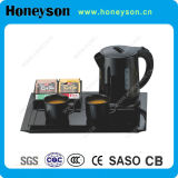 0.8L Plastic Kettle Welcome Tray Set for Hotel Guest Room