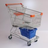 125L Extra Capacity Metal Aisan Design Shopping Cart (JS-TAS04)