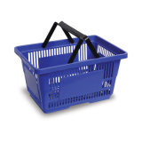 High Quality Handle Design Plastic Wicker Shopping Basket (JS-SBN03)