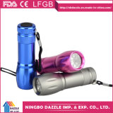 Wholesale Aluminum 9 LED Mini LED Torch Flashlight