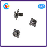 Stainless Steel M6 Cross/Phillips Pan Head Screws with Square Washer
