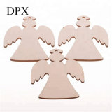 Home Decoration Christmas Decoration Pack of 10 Wooden Angel Kids Crafts Hanging Ornaments Christmas Decoration Blank Wood to Paint