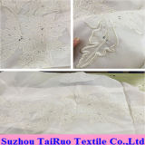 100% Embroidered Chiffon Silk for Lady Garment Fabric