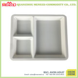 Wholesale Cheap 3 Sections Large White Melamine Tray