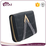 Black Zipper Style PU Wallet Purses for Travel