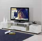 Modern Customizable Knock Down Wooden TV Stand with 6 Drawers