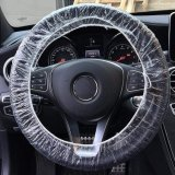 Universal Clear Elastic Plastic Disposable Steering Wheel Cover for Auto Car Truck