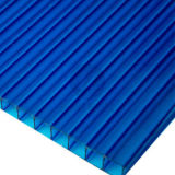 Blue Polycarbonate Hollow Sheet with UV Protection for Sunshade