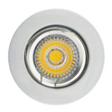 Die Cast Aluminum GU10 MR16 White Satin Nickel Round Fixed Recessed LED Downlight (LT1002)