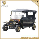 Chinese 3 Row Vintage Electric Resort Golf Car for Passenger