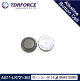 Mercury&Cadmium Free China Factory Alkaline Button Cell for Watch (1.5V AG11/LR721)