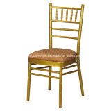 Aluminum Stackable Tiffany Chairs with Hard Pads for Wedding Rental