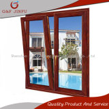Wooden Look Aluminium Casement/Awning/Tilt-Turn Winow with Double Glazed