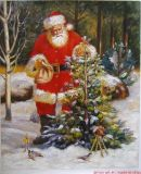 Reproduced Santa Cluas Oil Paintings for Wall Decoration