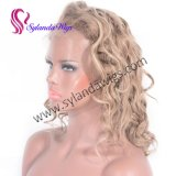Rock Star Fashion Style 8/613 Color Natural Wavy Lace Front Wigs 130% Density Glueless 100% Virgin Brazilian Human Hair