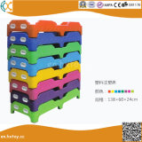 Children Plastic Single Bed for Preschool