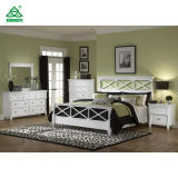 White Solid Wooden Hotel Bedroom Furniture Sets Customized for Children