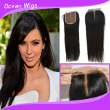 Straight Cambodian Virgin Hair Silk Top Straight Lace Closure