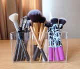 Professional Design Customized Clear Acrylic 3 Compartment Brush Holder