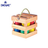 Cheap Fashion Water Filled Plastic Bocce Ball with Wooden Box