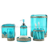 Metallic Hand Paint Super Clear Polyresin Bathroom Accessory for Wholesale