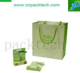 Beauty Paper Composite Bag Fashion Green Stand up Packaging Box