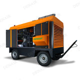 Portable Diesel Engine Rotary Screw Air Compressor for Mining