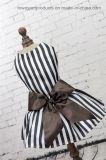 Cheap Bowtie Stripes Flowers Printing Royal Formal Pet Dress
