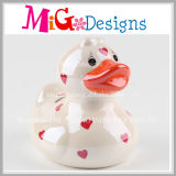 Hand-Make Gift Colorful Duck Ceramic Money Bank for Children